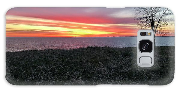 Sunrise At Lake Sakakawea Galaxy Case