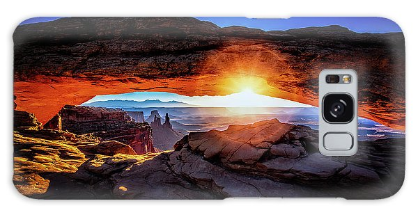 Sunrise At Mesa Arch Galaxy Case