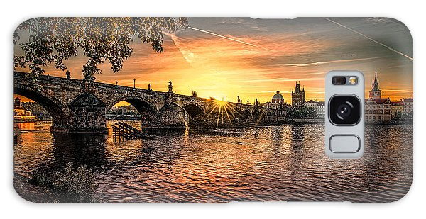 Sunrise At The Charles Bridge Galaxy Case