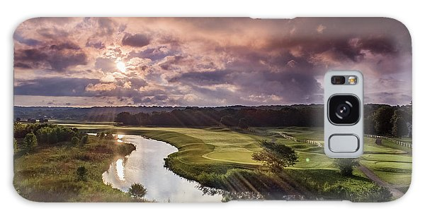 Sunrise At The Course Galaxy Case