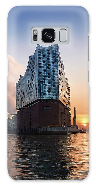 Sunrise At The Elbe Philharmonic Hall Galaxy Case