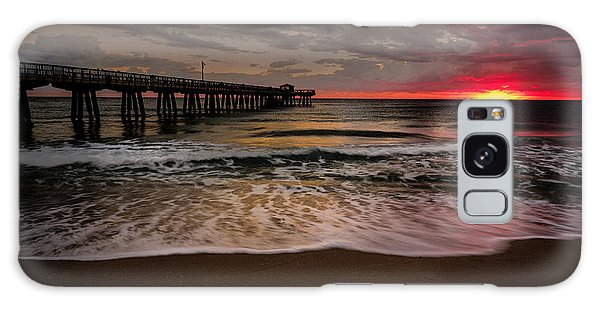 Sunrise At The Pier Galaxy Case