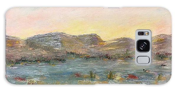 Sunrise At The Pond Galaxy Case