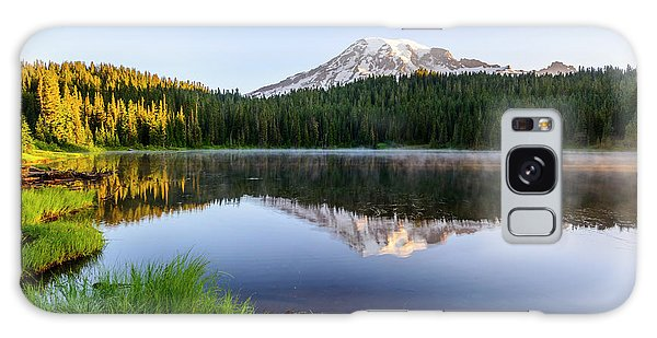 Mount Rainier Viewed From Reflection Lake Galaxy Case