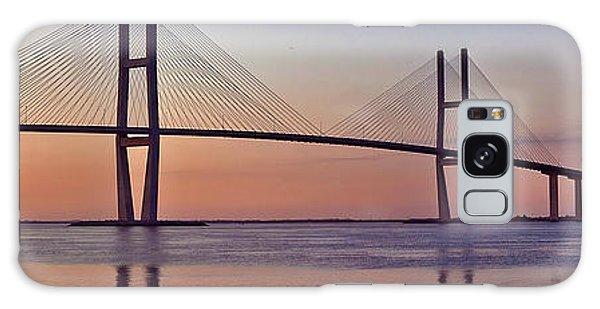 Sunrise At The Sidney Lanier Bridge Galaxy Case