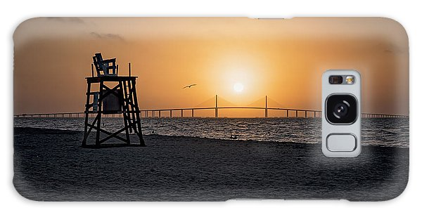 Sunrise At The Skyway Bridge Galaxy Case by Michael White