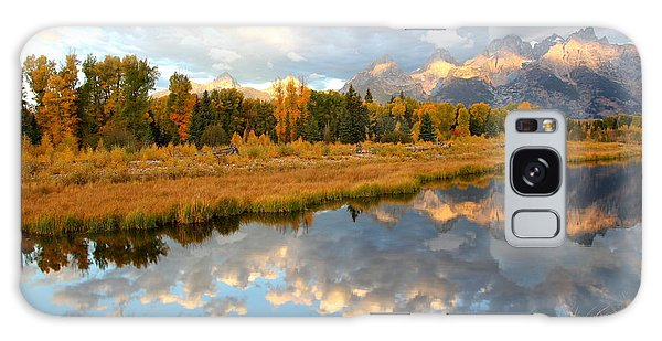 Sunrise At The Tetons Galaxy Case