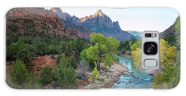 Southwest Usa Galaxy Case - Sunrise At The Watchman - Zion National Park - Utah by Brian Harig
