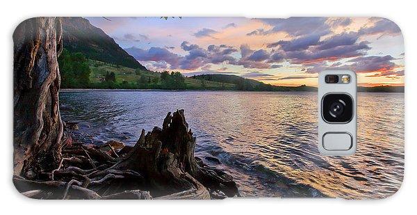 Sunrise At Waterton Lakes Galaxy Case
