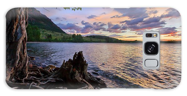 Sunrise At Waterton Lakes Galaxy Case