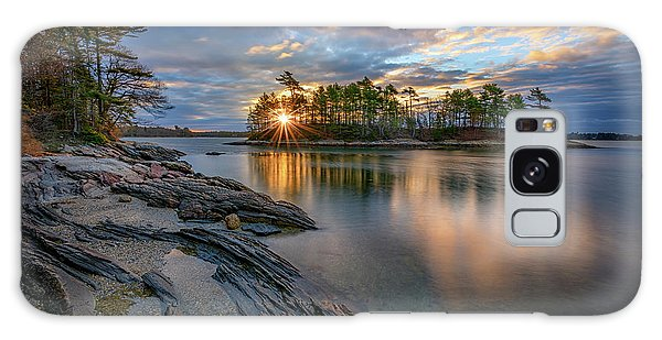 Sunrise At Wolfe's Neck Woods Galaxy Case by Rick Berk