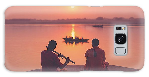 Sunrise By The Ganges Galaxy Case