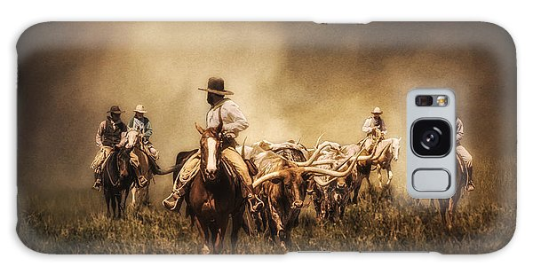 Sunrise Cattle Drive Galaxy Case by Priscilla Burgers