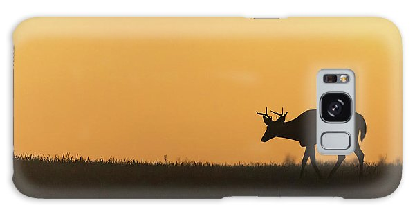 White-tailed Deer Galaxy Case - Sunrise Deer by Bill Wakeley