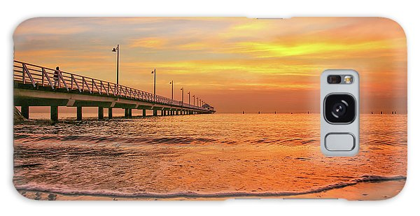 Sunrise Delight On The Beach At Shorncliffe Galaxy Case