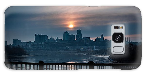 Sunrise From Kaw Point Galaxy Case