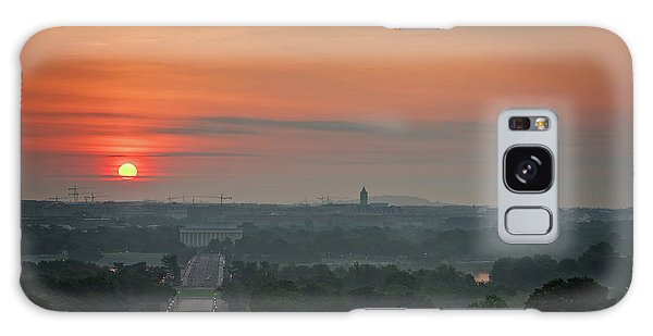 Galaxy Case featuring the photograph Sunrise From The Arlington House by Cindy Lark Hartman