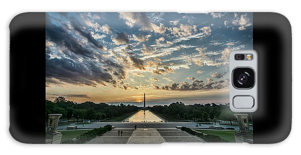 Sunrise From The Steps Of The Lincoln Memorial In Washington, Dc  Galaxy Case