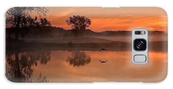 Sunrise Goose Galaxy Case