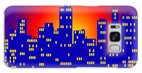 Sunrise In The City Galaxy Case by Digital Art Cafe