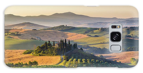 Sunrise In Tuscany Galaxy Case by JR Photography