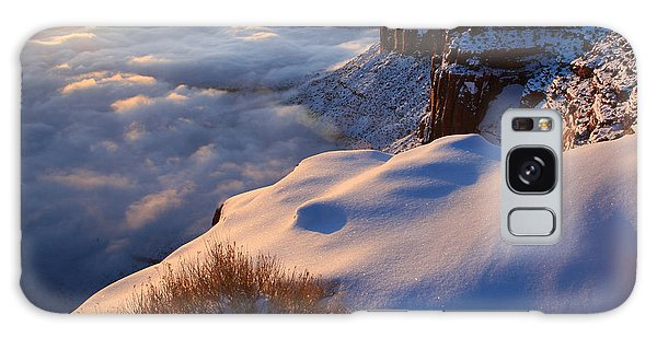 Islands In The Sky Galaxy Case - Sunrise Inversion At Buck Canyon Overlook by Dan Norris
