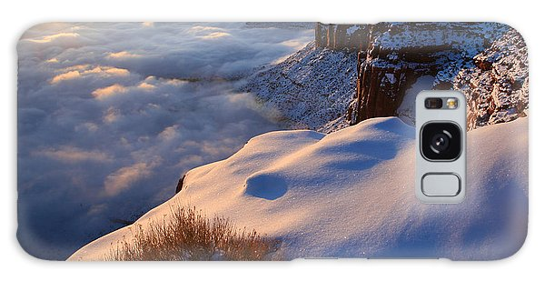 Sunrise Inversion At Buck Canyon Overlook Galaxy Case