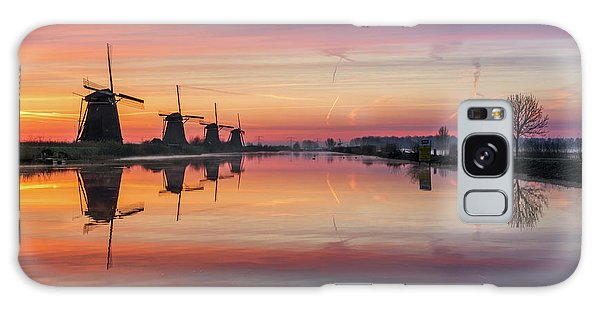 Sunrise Kinderdijk Galaxy Case