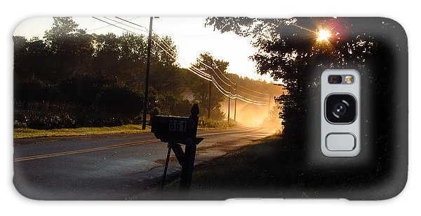 Sunrise On A Country Road Galaxy Case