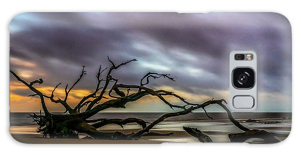 Galaxy Case featuring the photograph Sunrise On Driftwood Beach, Jekyll Island, Ga by Michael Sussman