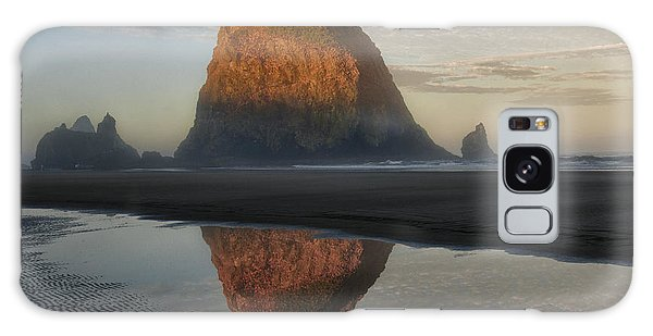Sunrise On Haystack Rock - Oregon Galaxy Case by Sandra Bronstein