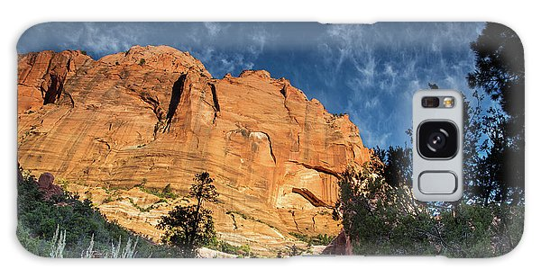 Sunrise On Kolob Arch Trail Galaxy Case