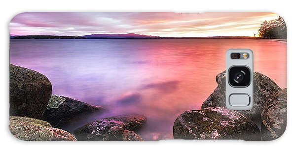 Sunrise On Lake Winnipesaukee Galaxy Case