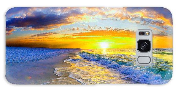 Sunrise On Ocean Waves Beautiful Orange Sunrise Galaxy Case