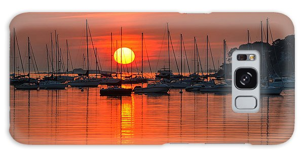 Sunrise On Salem Harbor Salem Ma Galaxy Case
