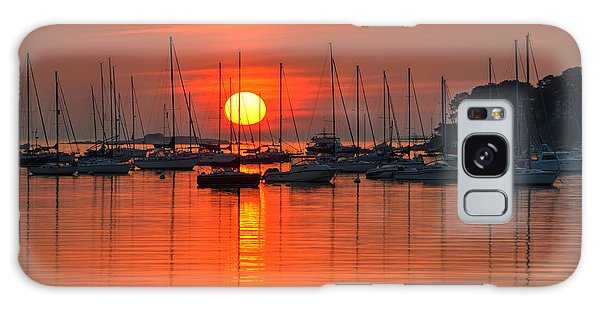 Sunrise On Salem Harbor Salem Ma Galaxy Case
