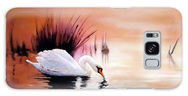 Sunrise On Swan Lake Galaxy Case