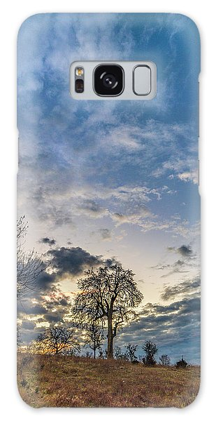 Sunrise On The Back Hill Galaxy Case