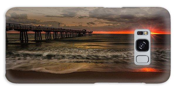 Sunrise On The Beach Galaxy Case