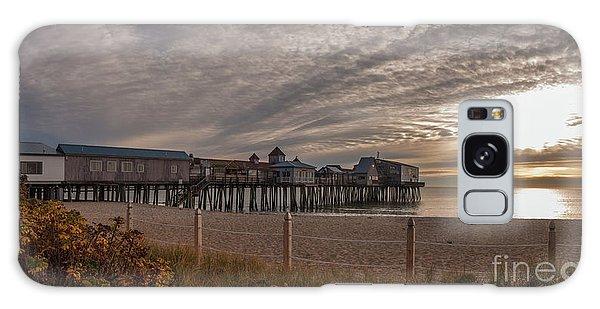 Sunrise On The Empty Beach Galaxy Case