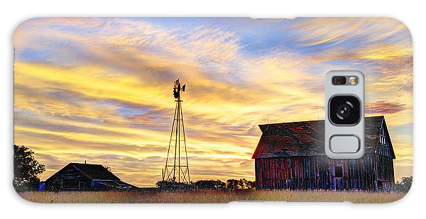 Sunrise On The Farm Galaxy Case