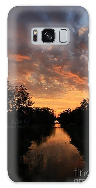 Sunrise On The Illinois Michigan Canal Galaxy Case