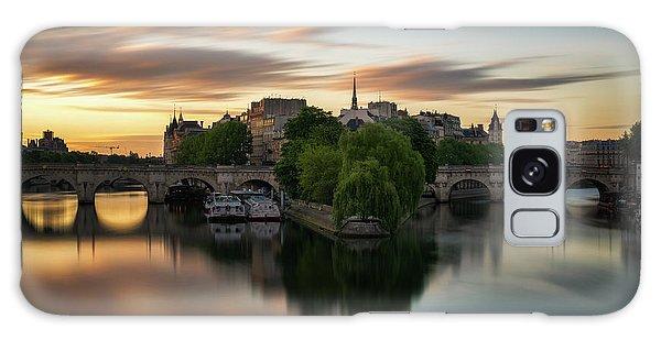 Sunrise On The Seine Galaxy Case