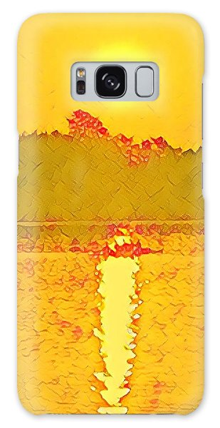 Sunrise On Town Lake Galaxy Case