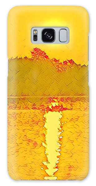 Sunrise On Town Lake Galaxy Case
