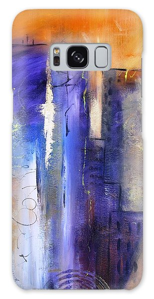 Sunrise On Twin Towers Galaxy Case