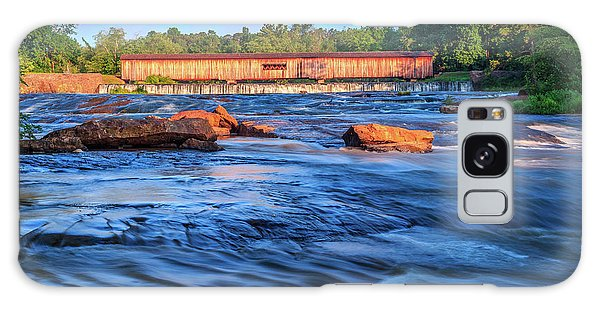 Sunrise On Watson Mill Bridge Galaxy Case