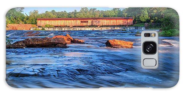 Galaxy Case featuring the photograph Sunrise On Watson Mill Bridge by Doug Camara
