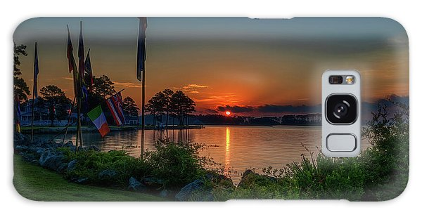 Galaxy Case featuring the photograph Sunrise On The Neuse 3 by Cindy Lark Hartman