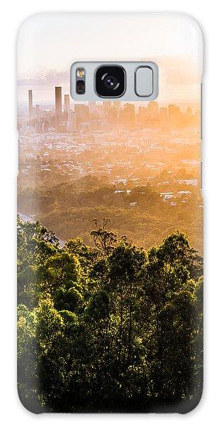 Sunrise Over Brisbane Galaxy Case by Parker Cunningham